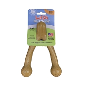 Pet Qwerks Wish BarkBone Peanut Butter Flavored Nylon USA Dog Chew Toy, Medium