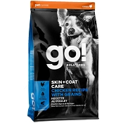 Petcurean Go! Solutions Skin + Coat Care Chicken Recipe with Grains Dry Dog Food, 25-lb Bag