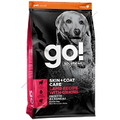 Petcurean Go! Solutions Skin + Coat Care Lamb Recipe with Grains Dry Dog Food, 25-lb Bag