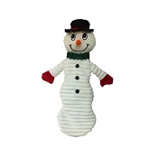 Petlou Holiday Christmas Floppy Snowman Dog Toy, 17-Inch