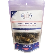 Pierless Pet Dehydrated Mini Cod Skins Dog Treats, 3-oz Bag