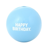 Planet Dog Orbee-Tuff Happy Birthday Ball Dog Toy, Blue