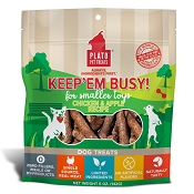 Plato Keep Em' Busy Chicken & Apple Toy Refill Dog Treats, Small, 5-oz bag