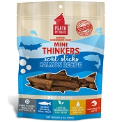Plato Mini Thinkers Salmon Recipe Dog Treats, 6-oz Bag
