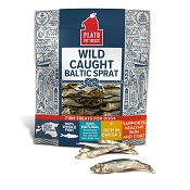 Plato Wild Caught Baltic Sprat Fish Dog Treats, 3-oz Bag