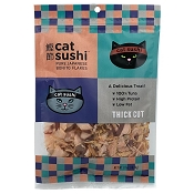 Presidio Cat Sushi Thick Cut Japanese Bonito Tuna Flakes Cat Treats, 0.7-oz Bag