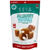 Presido Pill Buddy Naturals Hickory Smoked Beef Recipe Dog Treats