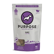 PURPOSE Freeze Dried Cage Free Rabbit Bites Dog Treats, 2.5-oz Bag