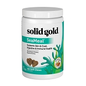 Solid Gold SeaMeal Skin & Coat, Digestive & Immune Soft Chews Dog Supplement, 120-Count