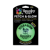 Spunky Pup Fetch & Glow Ball Dog Toy, Large