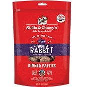 Stella & Chewy's Absolutely Rabbit Dinner Patties Freeze-Dried Raw Dog Food, 25-oz Bag
