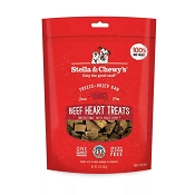 Stella & Chewy's Beef Heart Freeze-Dried Raw Dog Treats, 3-oz bag