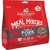 Stella & Chewy's Meal Mixers Purely Pork Freeze-Dried Raw Dog Food Topper, 18-oz Bag