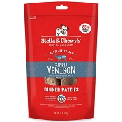 Stella & Chewy's Simply Venison Patties Freeze-Dried Raw Dog Food, 14-oz Bag