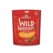 Stella & Chewy's Wild Weenies Cage-Free Chicken Freeze-Dried Raw Dog Treats, 3.25-oz Bag