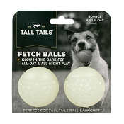 Tall Tails Glow in the Dark Fetch Balls Dog Toys, 2 Pack