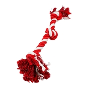 Tall Tails Holiday Winter Red & White Knotted Rope Tug Toy for Dogs