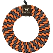 Tall Tails Orange Braided Ring Dog Toy, 6