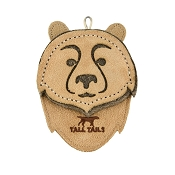 Tall Tails Bear Leather & Wool Dog Toy