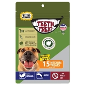 Teeth Treat USA Dental Chews for Dogs, Medium, 12-oz Bag