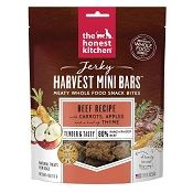 The Honest Kitchen Jerky Harvest Mini Bars Beef Recipe with Carrots & Apples Dog Treats