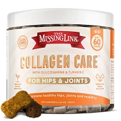 The Missing Link Collagen Care Hips & Joints Soft Chews Dog Supplement, 60 count
