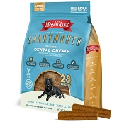 The Missing Link Smartmouth Dental Chews Large & X-Large Breed Adult Dog Treats, 28-Count