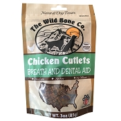 The Wild Bone Co. Chicken Cutlets Breath & Dental Aid Jerky for Dogs