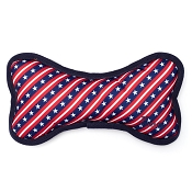 The Worthy Dog Stars and Stripes Bone Dog Toy, Large
