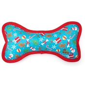 The Worthy Dog Winter Wonderland Bone Dog Toy, Large