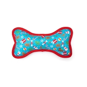 The Worthy Dog Winter Wonderland Bone Dog Toy, Small