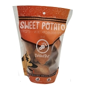 Tickled Pet USA Sweet Potato Chews Rawhide Alternative Dog Treat, 8-oz Bag