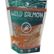 Tickled Pet Wild Pacific Salmon Cubes Freeze-Dried Cat & Dog Treats, 2-oz Bag