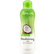 TropiClean Aloe & Coconut Deodorizing Dog & Cat Shampoo, 20-oz bottle