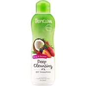 TropiClean Berry & Coconut Deep Cleansing Dog & Cat Shampoo, 20-oz bottle