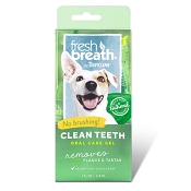 TropiClean Fresh Breath Peanut Butter Clean Teeth Oral Care Gel for Dogs, 4-oz