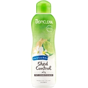 TropiClean Lime & Cocoa Butter Shed Control Dog & Cat Conditioner, 20-oz bottle