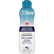 TropiClean OxyMed Anti-Itch Medicated Oatmeal Shampoo, 20-oz bottle