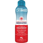 TropiClean OxyMed Medicated Oatmeal Rinse for Dogs & Cats, 20-oz bottle