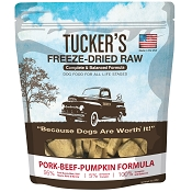 Tucker's Pork-Beef-Pumpkin Freeze-Dried Dog Food, 14-oz Bag