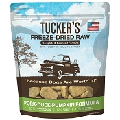Tucker's Pork-Duck-Pumpkin Freeze-Dried Dog Food, 14-oz Bag