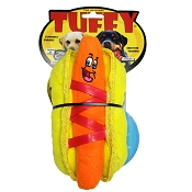 Tuffy Funny Food HotDog Dog Toy