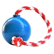 USA-K9 Blue Cherry Bomb Durable USA Dog Toy & Treat Dispenser, Large