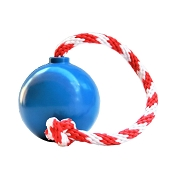 USA-K9 Blue Cherry Bomb Durable USA Dog Toy & Treat Dispenser, Medium