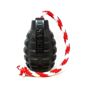 USA-K9 Grenade BLACK MAGNUM Durable USA Dog Toy & Treat Dispenser, Large