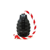 USA-K9 Grenade BLACK MAGNUM Durable USA Dog Toy & Treat Dispenser, Medium