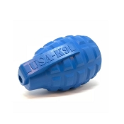USA-K9 Grenade Blue Durable USA Dog Toy & Treat Dispenser, Medium
