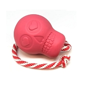 USA-K9 Pink Skull Durable USA Dog Toy & Treat Dispenser