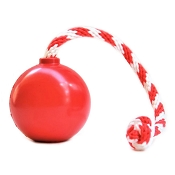 USA-K9 Red Cherry Bomb Durable USA Dog Toy & Treat Dispenser, Large
