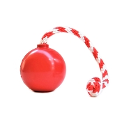 USA-K9 Red Cherry Bomb Durable USA Dog Toy & Treat Dispenser, Medium